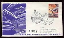 """27984) SAN MARINO 1965 FDC """"Reru - Viaggiata"""" Aerei L.500"""