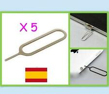 5 EXTRACTOR DE TARJETA SIM para Iphone, ipad, 3GS 4G,5  Apple