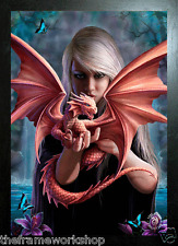 ANNE STOKES BLACK FRAMED DRAGON KIN - 3D MOVING PICTURE 300mm x 400mm