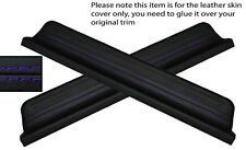 PURPLE STITCH 2X FRONT DOOR SILL TRIM SKIN COVERS FITS HONDA CIVIC 95-00 5DR