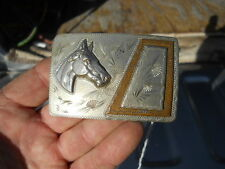 Vintage Hand Crafted Horse Head Western Belt Buckle