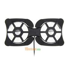 USB Cooling Fan Mini Cooler Pad Double Fans for 7-15 inch Notebook Laptop PC
