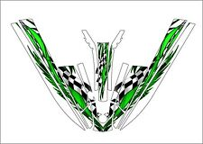 kawasaki 440 js 550 sx jet ski wrap graphics pwc stand up jetski decal green