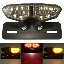 Motorcycle LED Brake Rear Tail Turn Signal License Plate Integrated Light Lamp