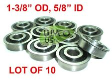 "QTY. 10, SEALED, FLANGED BEARINGS 1-3/8"" OD x 5/8"" ID, WAGONS, GO KARTS, DOLLIES"