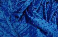 "DIMPLE DOT MINKY FABRIC ROYAL 60"" WIDTH SOFT BABY SEW SOLD BY THE YARD"