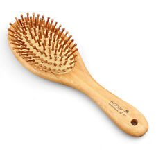 Natural Wood Paddle Brush Wooden Hair Care Spa Massage Anti-static Comb,Redberry