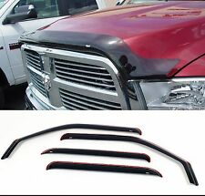 Dodge Ram Heavy Duty Mega Cab Bug Deflector Shield & In-Channel Vent Visor Combo