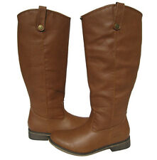 New Women's Fashion Knee High Riding Tan Brown Boots winter snow Ladies size 5.5