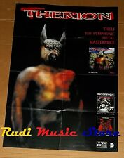 POSTER metal PROMO THERION THELI 84 X 59,5 cm NOcd dvd vhs lp live mc