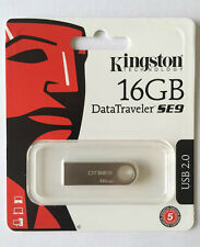 16GB KINGSTON DATATRAVELER SE9 CHIAVETTA USB 2.0 MEMORIA FLASH PENDRIVE COMPUTER