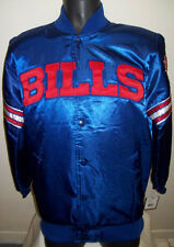 Original NFL STARTER BUFFALO BILLS Satin Jacket Blue & Red XL NWT