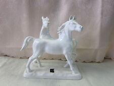 Pferedefigur Figur Pferd Pferde Pferdegruppe Cortendorf weiss Keramik 13376