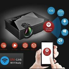 New Original UNIC UC46 Mini HD LED WiFi Projector 1200LM Airplay Miracast DLNA