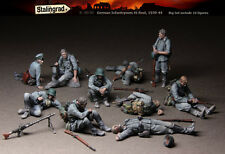 1/35 Scale Resin  model kit World War II German infantry Rest scene(10 figs)