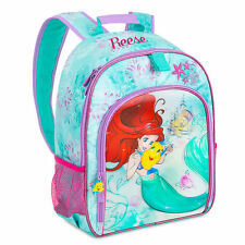 Disney Store Princess Ariel Flounder Little Mermaid Girls Backpack School Bag