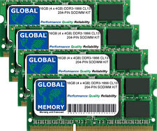 "16GB 4x4GB DDR3 1866MHz PC3-14900 204-PIN SODIMM IMAC 27"" RETINA LATE 2015 RAM"