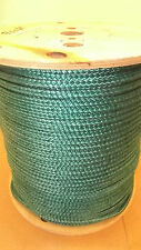 """NEW 5/16"""" x 700' 12-Strand Braided Polyester Rope, Wire Pulling, Anchor Line"""