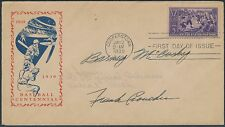 "#855 ""BASEBALL"" FDC MALONE #92d CACHET DETROIT TIGER PLAYERS SIGNED 1939 BS6271"