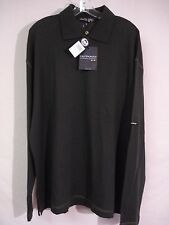 NWT Men's Italy OutKast Clothing Merino Wool L/S Polo Shirt Size 3XL Olive #520D