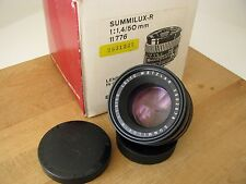 Leica 50mm Summilux-R f/1.4 3 Cam Lens **Beautiful Glass** ** CLA'D** **READ**