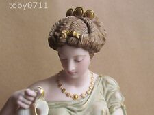 ROBINSON & LEADBEATER TINTED PARIAN WARE CLASSICAL LADY 1890 LEADBETTER(Ref1797)