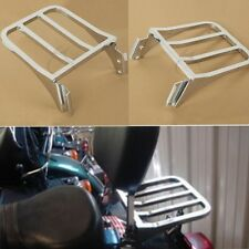 Sissy Bar Backrest Rear Luggage Rack For Harley Softail Dyna Super Glide Custom