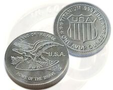 1 OUNCE TITANIUM COIN *LAND OF THE FREE* .999 FINE TITANIUM ROUND *MADE IN USA*