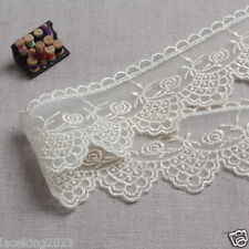 14Yds Embroidery scalloped mesh eyelet lace trim 4cm YH1271 laceking2013