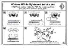 TRACKS SET 1/72 608MM LIGHTENED FOR KV-1S TANK 1/72 ACE PE7241