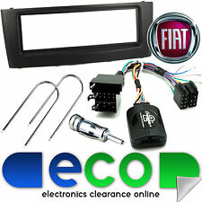 Fiat Punto Grande Car Stereo Single Din BLACK Fascia & Steering Wheel Interface