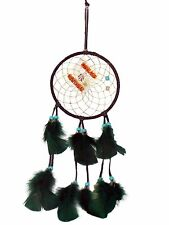 Native Spirits 4 inch Dream Catcher Leather Ornament Fair Trade Sleep Rest 00015