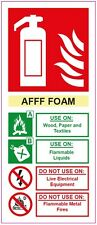 [ 200x85mm ] FIRE EXTINGUISHER - AFFF FOAM - STICKER/SIGN - Health and Safety