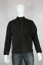 Roundtree & yorke leather jacket M new motorcycle cafe racer brown