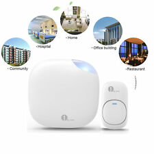 150M US Plug-in Wireless Visitor Door Bell Doorbell Chime 36 Sounds LED