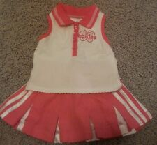 Adidas infant 3M pink cheer tennis skirt golf outfit girls baby summer skort