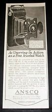 1918 OLD MAGAZINE PRINT AD, ANSCO NO. 2 CAMERA, AS UNERRING AS A FINE WATCH!