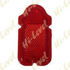 Custom Motorcycle Moto lápida Luz De La Cola Lentes Rojo 114mmx 62mm BC18265 T