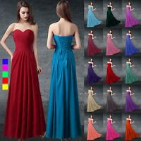 New Bridesmaid Prom Formal Ball Gown Party Long Evening Dresses Stock Size 6-26