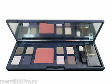 *NEW* ESTEE LAUDER PURE COLOUR EYE SHADOW x 8 AND BLUSHER MIRRORED COMPACT BRUSH