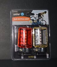 TOPZONE 5LED Bicycle Light 2 Piece Set Brand New