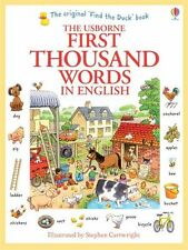 Usborne My First Thousand Words in English Book NEW Paperback