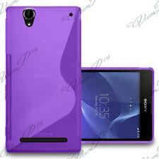 CASE COVER SILICONE GEL S-LINE PURPLE Sony Xperia T2 Ultra SIM Dual D5322 XM50h