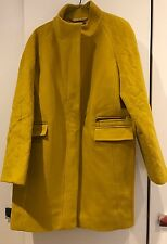 BNWT Hobbs Penny Quilted Mustard Coat Size 16