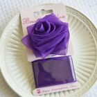 Purple Rose Bow and Ribbon Easy Clip On Present Gift Bow Christmas Gift Wrap