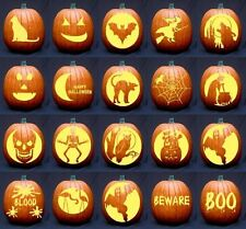 Over 1,200 Halloween Pumpkin Carving Stencils & Patterns Designs on DVD