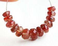 Natural Andesine Red Labradorite Faceted Rondelle Gemstone Beads