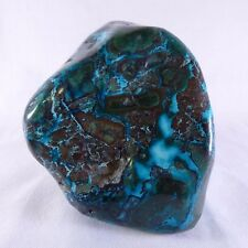 Large Malachite & Chrysocolla 'Malacolla' Polished Display Freeform - 91mm, 570g