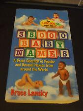 35,000+ Baby Names by Bruce Lansky (1995, Paperback)