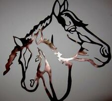 HorSe And Colt WESTERN METAL ART RANCH RUSTIC LODGE MOUNTAIN CABIN WALL DECOR